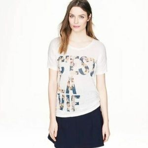 J. Crew C'est La Vie Graphic Linen T Shirt